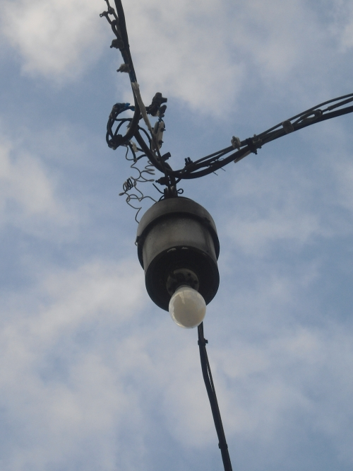 Armes Licht, aufgenommen in Pisa, Italien, 2012